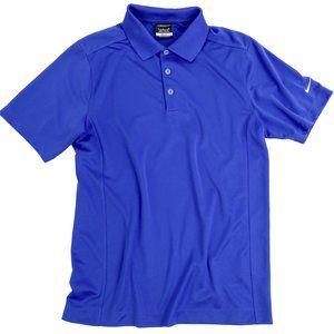 Nike Golf Dri-Fit Polo Shirt Blue Short Sleeve S